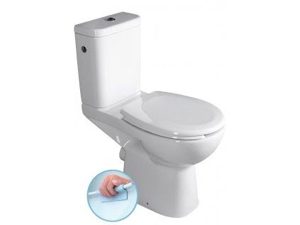 ETIUDA WC kombi zvýšené, Rimless, zadní odpad, bílá
