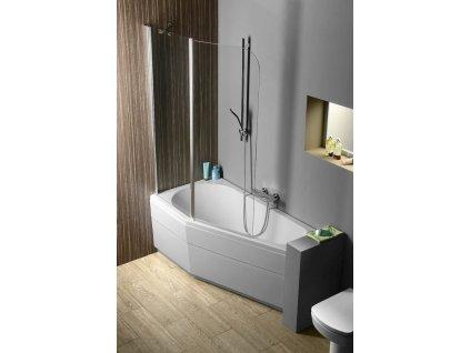 TIGRA L asymetrická vana 150x75x46cm, bílá