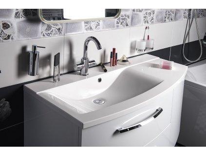 Koupelnový set JULIE 105, levá, bílá