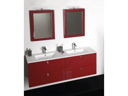 Koupelnový set MITRA 120, dvojumyvadlo, bordo