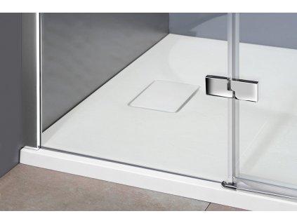 FORTIS LINE čtvrtkruhová sprchová zástěna 900x900x2000mm, levá