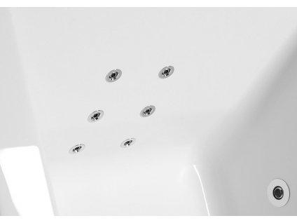 EVIA L HYDRO hydromasážní vana, 170x100x47cm, bílá