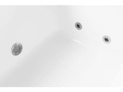 ROSANA HYDRO hydromasážní vana, 140x140x49cm, bílá