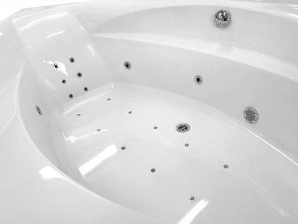 ROSANA HYDRO-AIR hydromasážní vana, 150x150x49cm, bílá