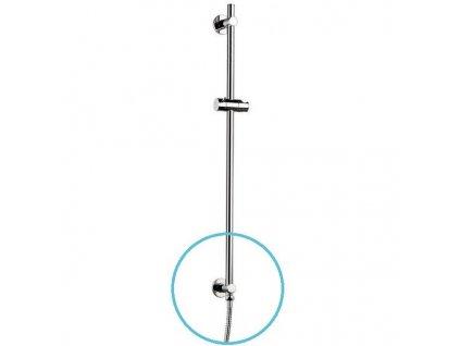 Posuvný držák sprchy, vývod vody, 720mm, chrom