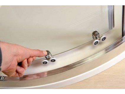 AKCE čtvrtkruhová sprchová zástěna 900x900x1900mm, sklo Brick