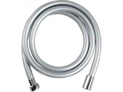 SOFTFLEX hladká sprchová plastová hadice, 150cm, metalická stříbrná/chrom