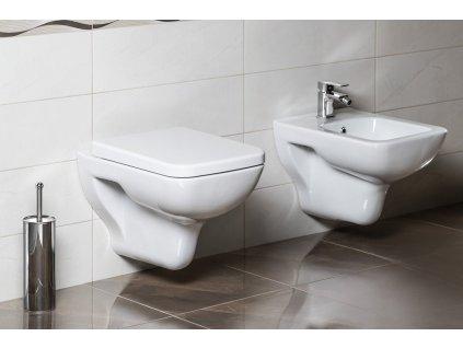 BENE bidet závěsný, 35,5x50 cm, bílá