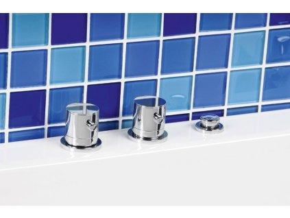Tříprvková baterie na okraj vany, chrom