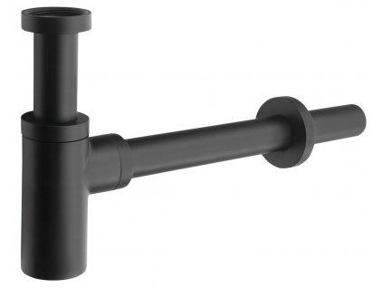 Umyvadlový sifon 1'1/4, odpad 32 mm, kulatý, černá mat