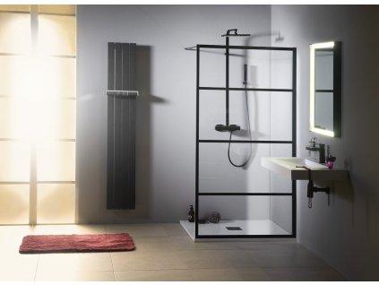 CURE BLACK sprchová zástěna 1100mm, černá mat
