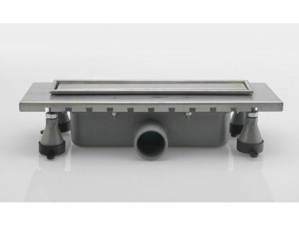 ESSEFLOW nerezový sprchový kanálek s roštem, 380x136x80 mm
