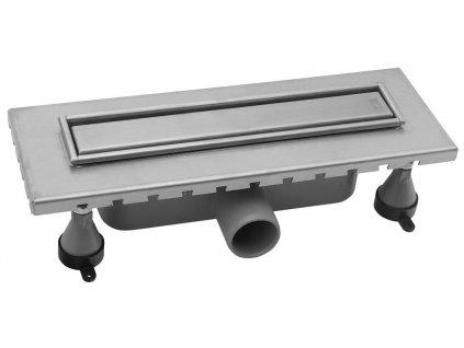 ESSEFLOW nerezový sprchový kanálek s roštem, 310x60x80 mm