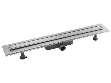 ESSEFLOW nerezový sprchový kanálek s roštem, 1010x60x80 mm