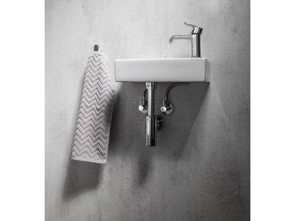 Rohový ventil 1/2'x3/8', bez matky, kulatý, chrom