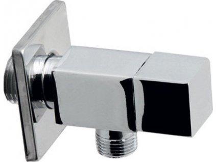 Rohový ventil 1/2'x3/8', bez matky, hranatý, chrom