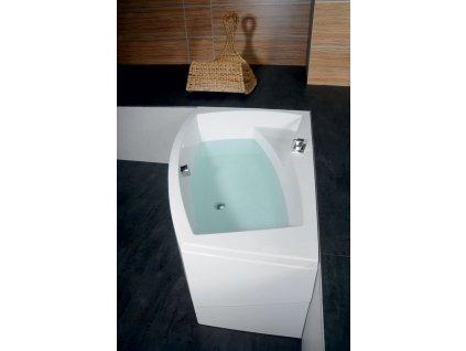 EVIA R asymetrická vana 170x100x47cm, bílá