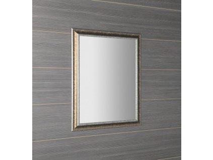 AMBIENTE zrcadlo v dřevěném rámu 720x920mm, bronzová patina