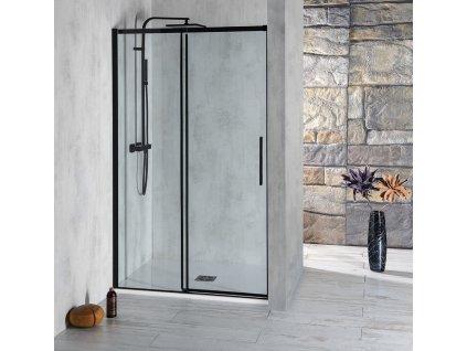 ALTIS LINE BLACK posuvné dveře 1070-1110mm, výška 2000mm, sklo 8mm