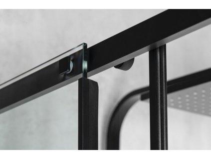 ALTIS LINE BLACK obdélníkový sprchový kout 900x800 mm, L/P varianta, rohový vstup, čiré sklo