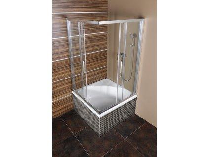 CARMEN čtvercová sprchová zástěna 900x900x1650mm, čiré sklo