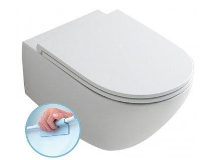 AQUATECH závěsná WC mísa, Rimless, 36,5x55cm, bílá
