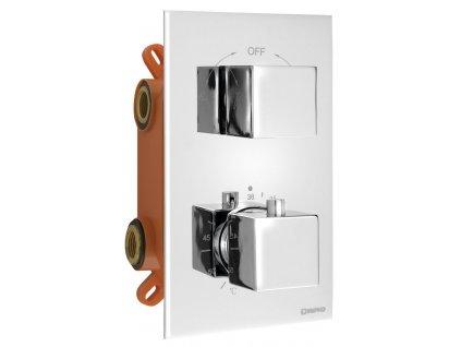 LATUS podomítkový sprchový set s termostatickou baterií, box, 2 výstupy, chrom