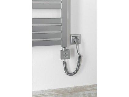 KTX topná tyč s termostatem, 600 W, stříbrná
