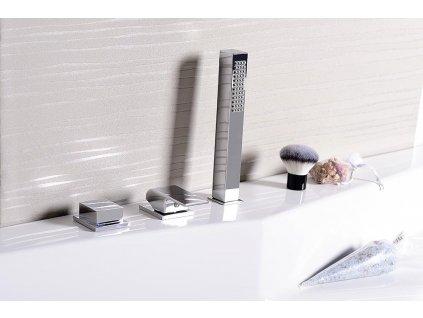 Ruční sprcha, hranatá, 220mm, ABS/chrom