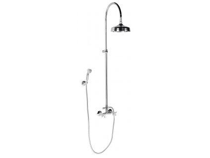 ANTEA sprchový sloup k napojení na baterii, hlavová, ruční sprcha, chrom
