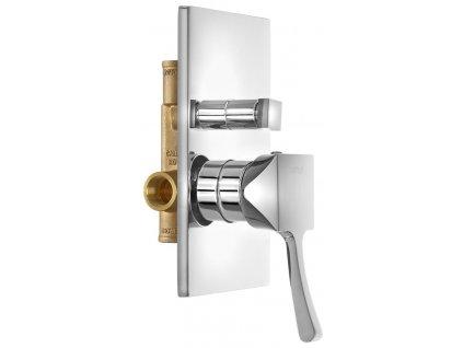CHIC podomítková sprchová baterie, 2 výstupy, chrom