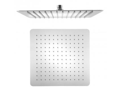 SLIM hlavová sprcha, čtverec 300x300mm, leštěný nerez