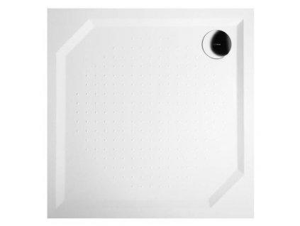 ANETA90 sprchová vanička z litého mramoru, čtverec 90x90x4cm