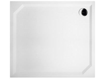 SARA sprchová vanička z litého mramoru, obdélník 100x90x4cm, hladká