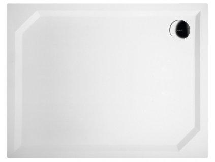 SARA sprchová vanička z litého mramoru, obdélník 90x70x4cm, hladká