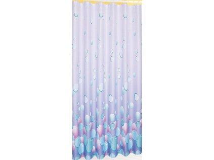 Závěs 180x180cm, 100% polyester, světle fialová