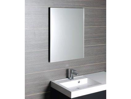 ACCORD zrcadlo s fazetou 400x600mm, zakulacené rohy, bez úchytu