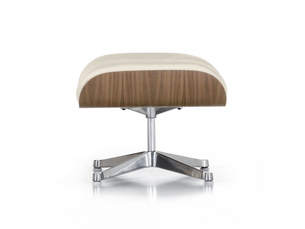 lounge chair ottoman white pigmented walnut