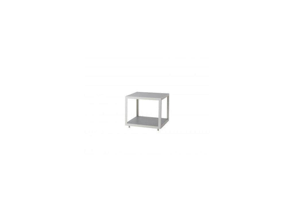 Cane-line Odkládací stolek Level, malý - bílá/světle šedá