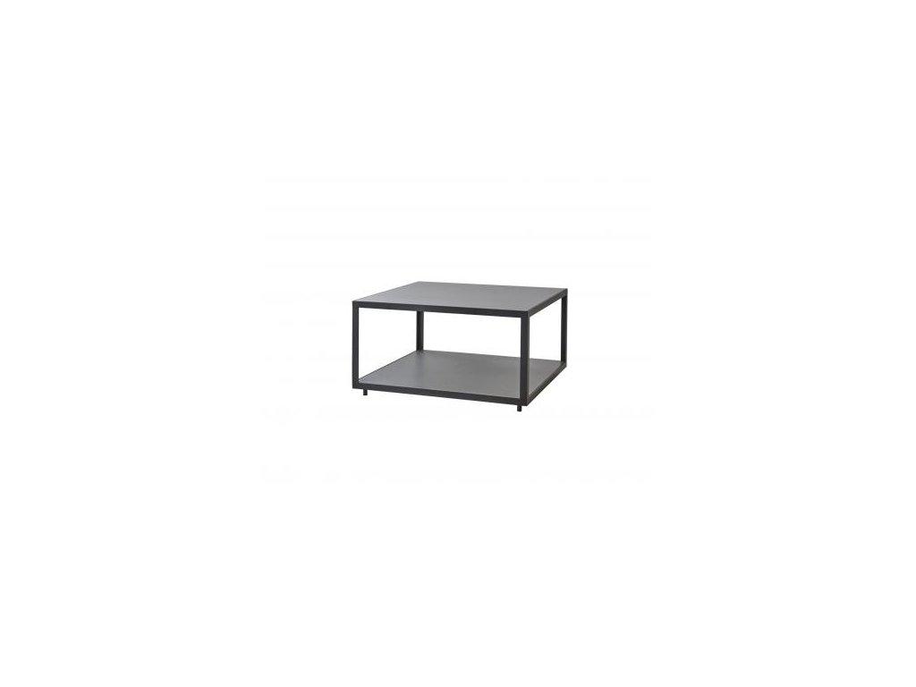 Cane-line Odkládací stolek Level, velký - lávově šedá/světle šedá