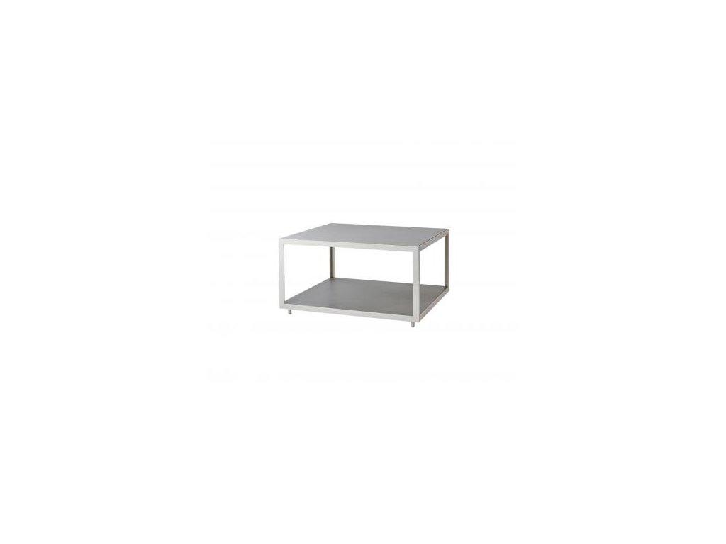 Cane-line Odkládací stolek Level, velký - bílá, světle šedá
