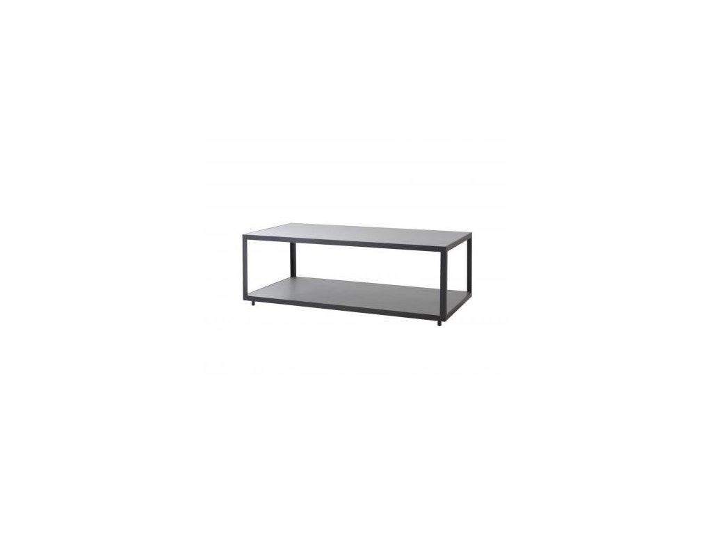 Cane-line Odkládací stolek Level, obdélníkový - lávově šedá/světle šedá