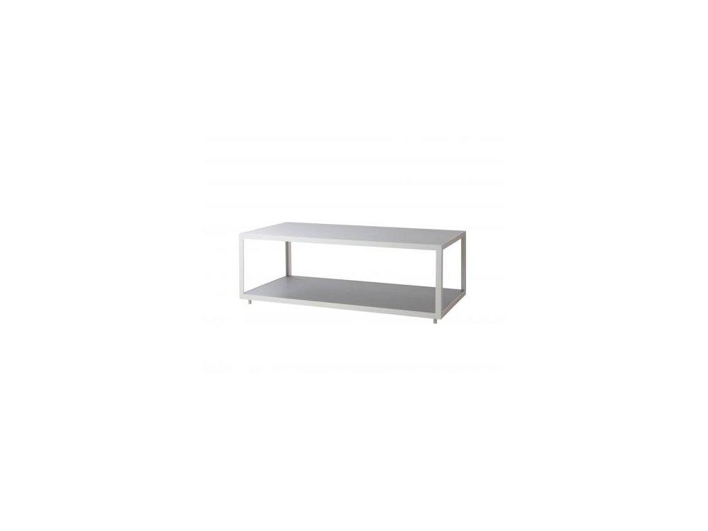 Cane-line Odkládací stolek Level, obdélníkový - bílá/světle šedá