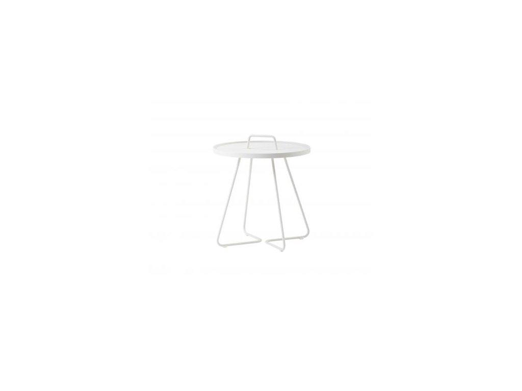 Cane-line Přenosný stolek On-the-move L - bílá
