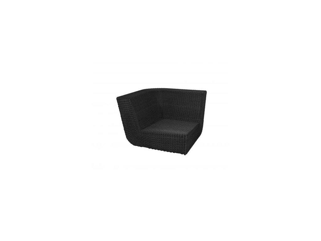 Cane-line Rohový modul pohovky Savannah - černá