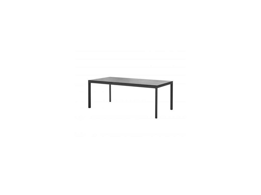 Cane-line Jídelní stůl Drop - lávově šedá, černá
