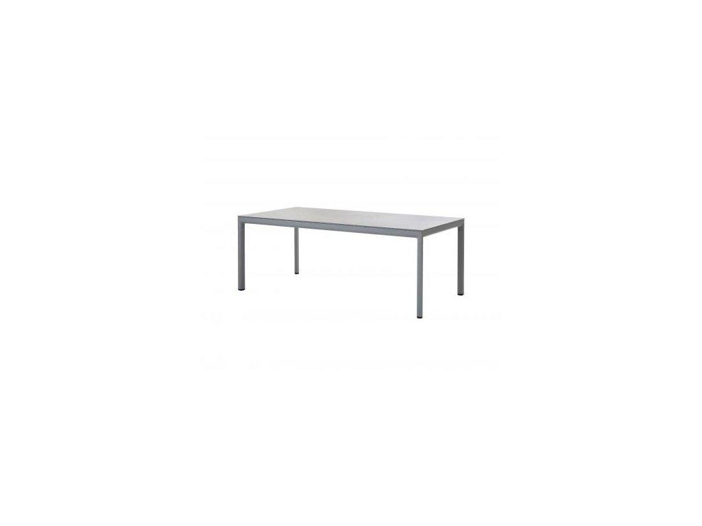Cane-line Jídelní stůl Drop - světle šedá, šedá