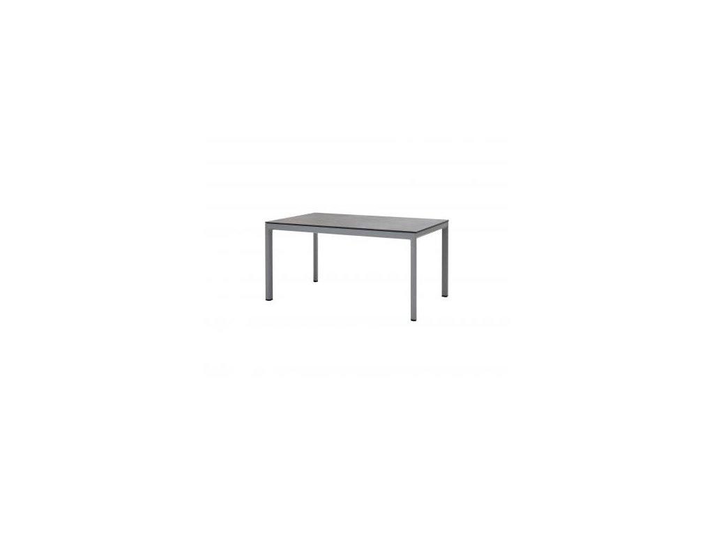 Cane-line Jídelní stůl Drop - 150x90 cm - světle šedá, černá