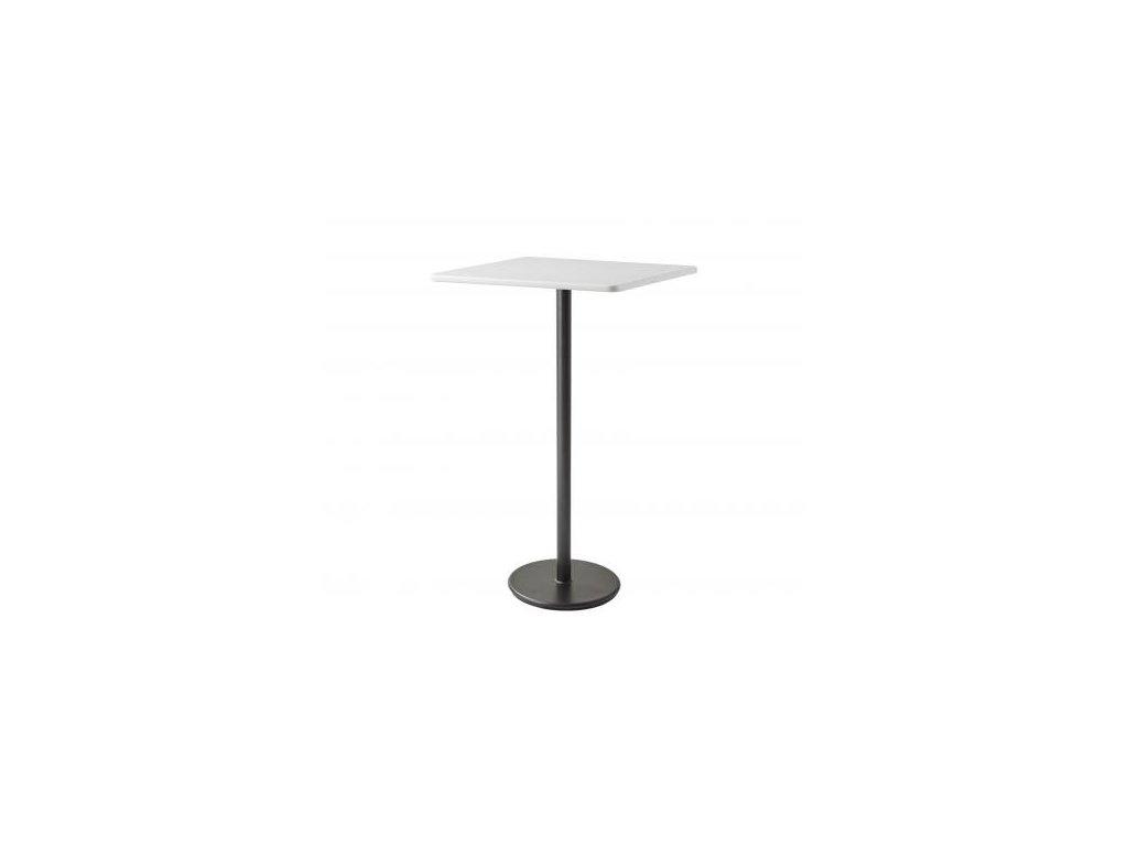 Cane-line Barový stolek Go 75x75 cm - lávově šedá, bílá