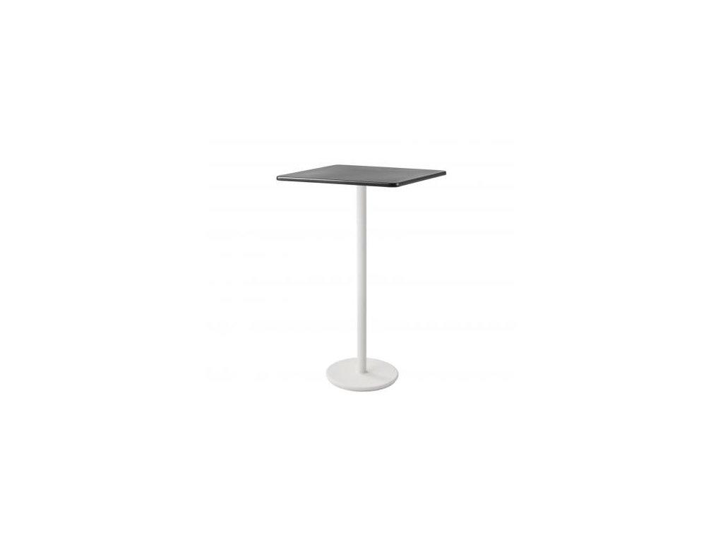 Cane-line Barový stolek Go 75x75 cm - bílá, lávově šedá